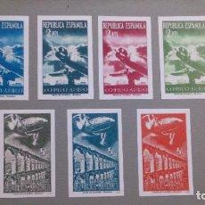 Sellos: ESPAÑA - 1939 - II REPUBLICA - EDIFIL NE 39S/45S-F - SIN DENTAR - SERIE COMPLETA - (*) - NUEVOS.. Lote 195478651