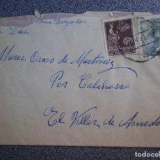 Sellos: SOBRE CENSURA MILITAR BARCELONA A EL VILLAR DE ARNEDO LA RIOJA CON FRANQUEO AYUNTAMIENTO BARCELONA. Lote 195529648