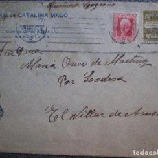 Sellos: SOBRE REPÚBLICA ESPAÑOLA EL VILLAR DE ARNEDO LA RIOJA FRANQUEO AYUNTAMIENTO FECHADOR CALAHORRA. Lote 195529748