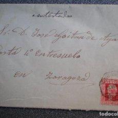 Sellos: LOTE 3 SOBRES REPÚBLICA ESPAÑOLA CON FECHADORES AMBULANTES A ZARAGOZA. Lote 195530330