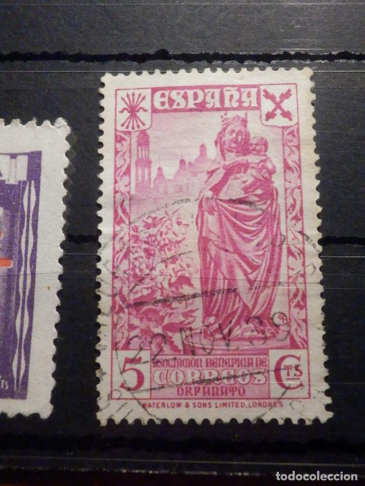 Sellos: Lote 16 sellos Edifil 325,609, 970, 971,975, 811, 806, 805, 808, 256 + varios beneficencia y Cadiz - Foto 7 - 195793766