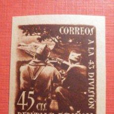 Francobolli: EDIFIL ESPAÑA Nº 788 788A - HOMENAJE 43 DIVISIÓN 45 C. CTS CASTAÑO ROJIZO - CON GOMA, SIN FIJASELLOS. Lote 195795550