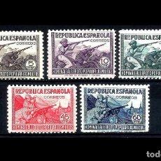 Sellos: ESPAÑA - 1938 - II REPUBLICA - EDIFIL 792/796 - MNH** - NUEVOS - HOMENAJE AL EJERCITO POPULAR.. Lote 196194553