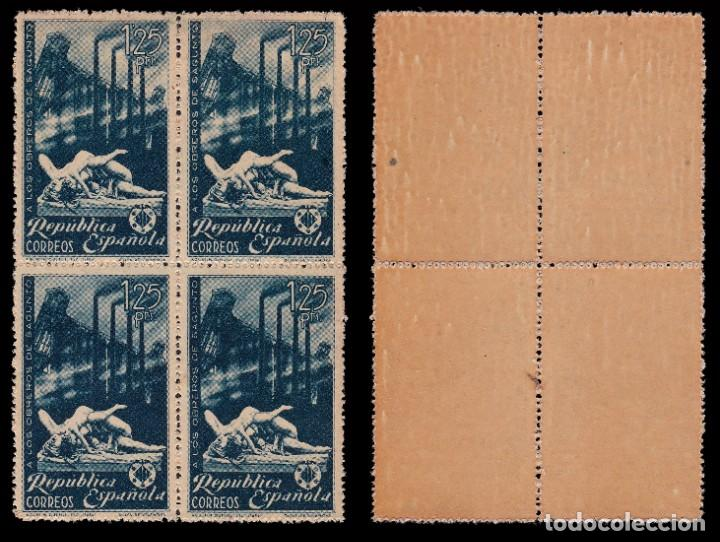 Sellos: II República.1938.Homenaje Sagunto.Blq 4.MNH.Edifil.773-774 - Foto 2 - 196329231