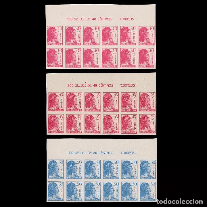 1938.ALEGORÍA.BLQ 12.SD. MNH.EDIFIL 751-753. (Sellos - España - II República de 1.931 a 1.939 - Nuevos)