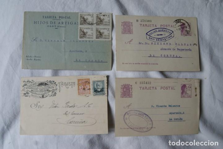 LOTE DE 4 TARJETAS POSTALES REPUBLICA Y GUERRA CIVIL PUBLICITARIAS S33 (Sellos - España - II República de 1.931 a 1.939 - Cartas)