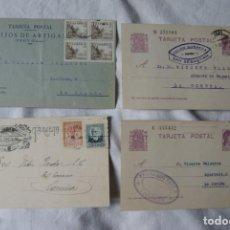 Sellos: LOTE DE 4 TARJETAS POSTALES REPUBLICA Y GUERRA CIVIL PUBLICITARIAS S33. Lote 198023886