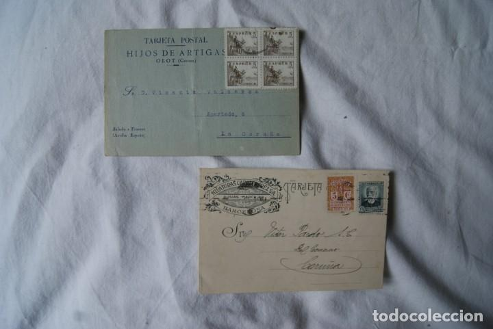 Sellos: LOTE DE 4 TARJETAS POSTALES REPUBLICA Y GUERRA CIVIL PUBLICITARIAS S33 - Foto 2 - 198023886