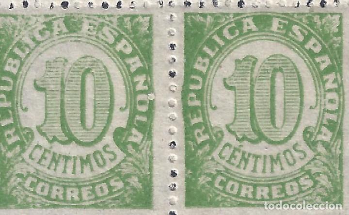 Sellos: EDIFIL 746 CIFRAS 1938 (BLOQUE DE 4) (VARIEDAD...DIFIERE IMPRESIÓN). MNH ** - Foto 2 - 198750803