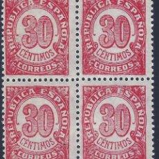 Sellos: EDIFIL 750 CIFRAS 1938 (BLOQUE DE 4). MNH **. Lote 198763288