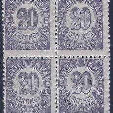 Sellos: EDIFIL 748 CIFRAS 1938 (BLOQUE DE 4). MNH **. Lote 198763336