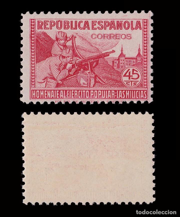 Sellos: 1938.Homenaje Ejército Popular.45c MNH Edifil.795 - Foto 2 - 198980461