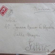 Timbres: CIRCULADA 1932 DE PUENTE LA REINA A FITERO NAVARRA. Lote 199218533