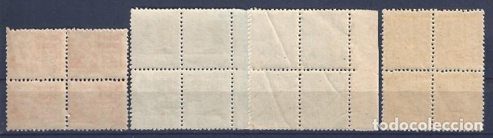 Sellos: EDIFIL 731-740 CIFRA Y PERSONAJES 1936-1938 (BLOQUES DE 4). VALOR CATÁLOGO: 168 €. LUJO. MNH ** - Foto 4 - 128733651