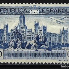 Sellos: 1931 ESPAÑA CONGRESO UNIÓN POSTAL PANAMERICANA - EDIFIL 617 - MH* NUEVO CON FIJASELLOS. Lote 199393197
