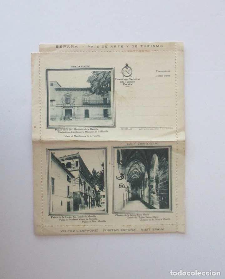 CARTA-SOBRE UBEDA, JAEN - PATRONATO NACIONAL DE TURISMO DE ESPAÑA (Sellos - España - II República de 1.931 a 1.939 - Cartas)