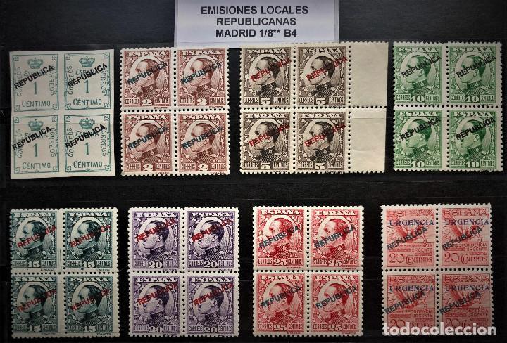 SELLOS 1931 EMISION LOCAL REPUBLICANA, MADRID 1/8** B4, NUEVOS, LOS DE LA FOTO (Sellos - España - II República de 1.931 a 1.939 - Nuevos)
