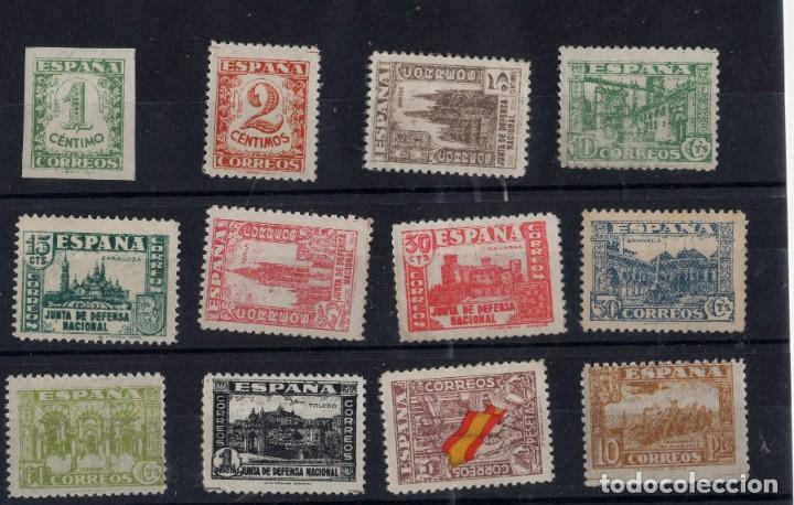 JUNTA DE DEFENSA NACIONAL - 12 SELLOS CATÁLOGO EDIFIL Nº 802-813 - AÑO 1936-1937 (Sellos - España - II República de 1.931 a 1.939 - Nuevos)