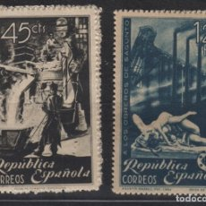 Sellos: 1938 HOMENAGE OBREROS DE SAGUNTO EDIFIL 773/4* . Lote 201280275