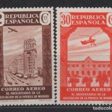 Sellos: 1936 ANIVERSARIO ASOCIACION DE PRENSA EDIFIL 712 Y 718**. Lote 201280495
