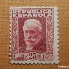 Sellos: SELLO DE CORREOS - AÑO 1931 - EDIFIL Nº 658 - PORDIOSRO PABLO IGLESIAS - NUEVO C/ GOMA Y Nº CONTROL. Lote 201842148