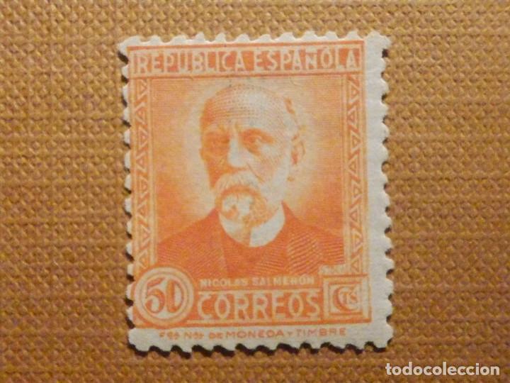 SELLO DE CORREOS - AÑO 1932 - EDIFIL Nº 661 - NICOLÁS SALMERON - NUEVO C/ GOMA Y Nº CONTROL (Sellos - España - II República de 1.931 a 1.939 - Nuevos)