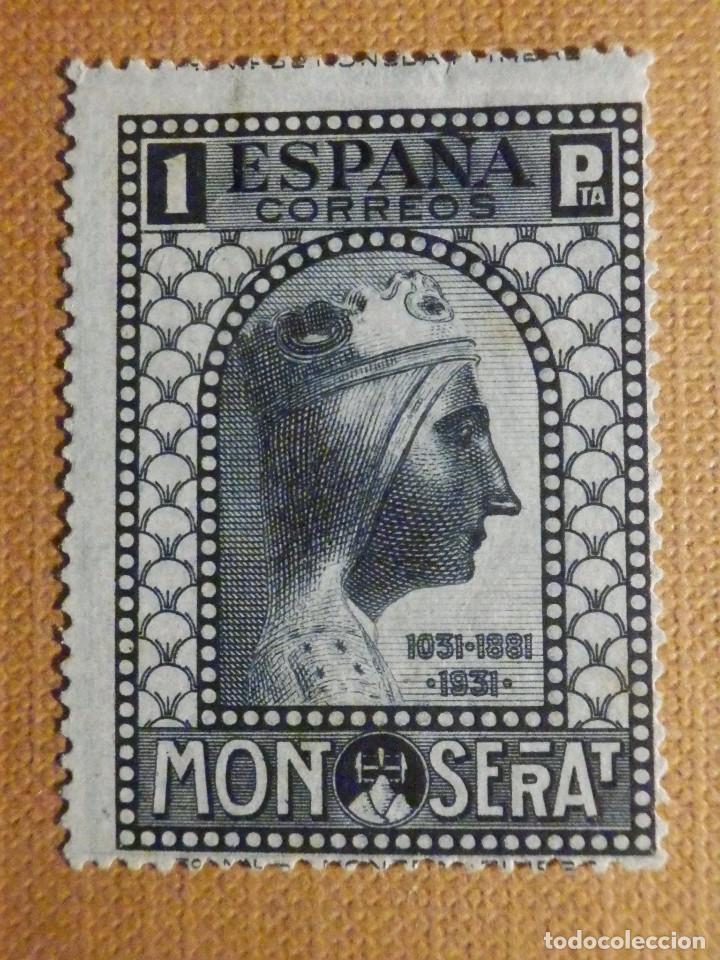 SELLO CORREOS - AÑO 1931 - EDIFIL Nº 646 - MONASTERIO MONSERRAT - NUEVO C/ GOMA Y Nº CONTROL (Sellos - España - II República de 1.931 a 1.939 - Nuevos)