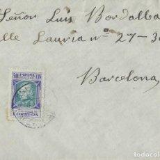 Sellos: ESPAÑA. SOBRE DE SOLSONA (LLEIDA) A BARCELONA EN 1938, CON SELLO DE 50 CTS. HUÉRFANOS DE CORREOS.. Lote 202352433