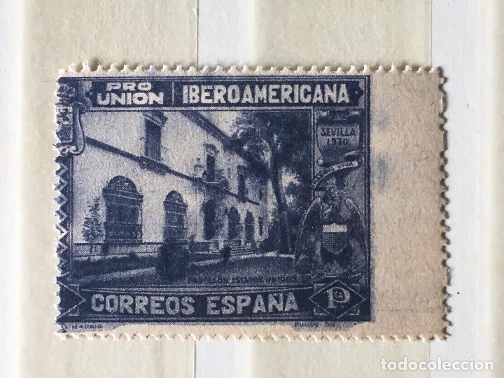 SELLO ERROR DE IMPRESION EDIFIL 578 , PRO UNION IBEROAMERICANA 1930, 1 PESETA (Sellos - España - II República de 1.931 a 1.939 - Usados)