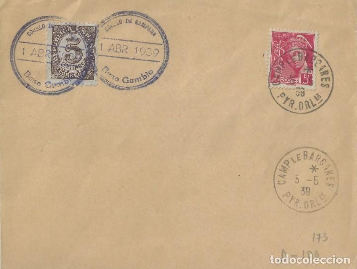 SOBRE FILATÉLICO CON DOS MARCAS REPUBLICANAS. (Sellos - España - II República de 1.931 a 1.939 - Cartas)