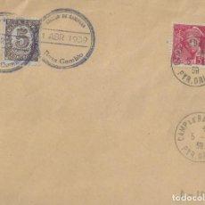 Timbres: SOBRE FILATÉLICO CON DOS MARCAS REPUBLICANAS.. Lote 202596962