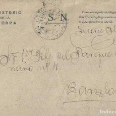 Sellos: MINISTERIO DE LA GUERRA. SOBRE DE 1932 CON MEMBRETE Y FRANQUICIA, CIRCULADO A BARCELONA.. Lote 202597273