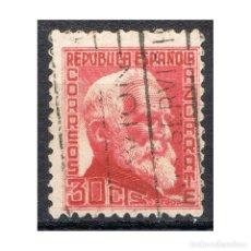 Sellos: [CF2362A] ESPAÑA 1935, PERSONAJES II, 30 C. (U). Lote 202731350