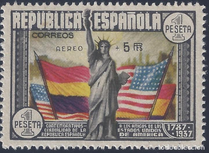EDIFIL 765 ANIVERSARIO DE LA CONSTITUCIÓN DE LOS EE.UU. VALOR CATÁLOGO: 1.079 €. LUJO. MNH ** (Sellos - España - II República de 1.931 a 1.939 - Nuevos)