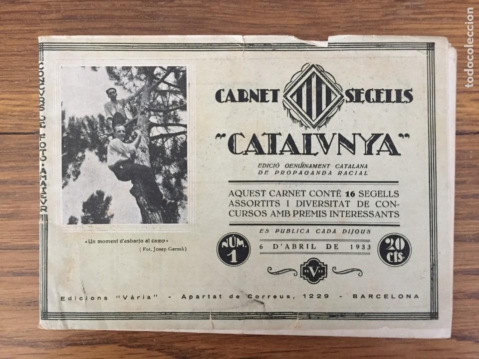 CARNET SEGELLS CATALUNYA Nº 1 (ABRIL, 1933) - CONSERVA LOS 16 SELLOS (Sellos - España - II República de 1.931 a 1.939 - Nuevos)