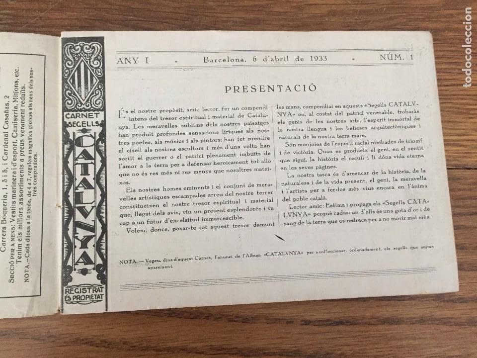 Sellos: CARNET SEGELLS CATALUNYA nº 1 (Abril, 1933) - CONSERVA LOS 16 SELLOS - Foto 2 - 204006396