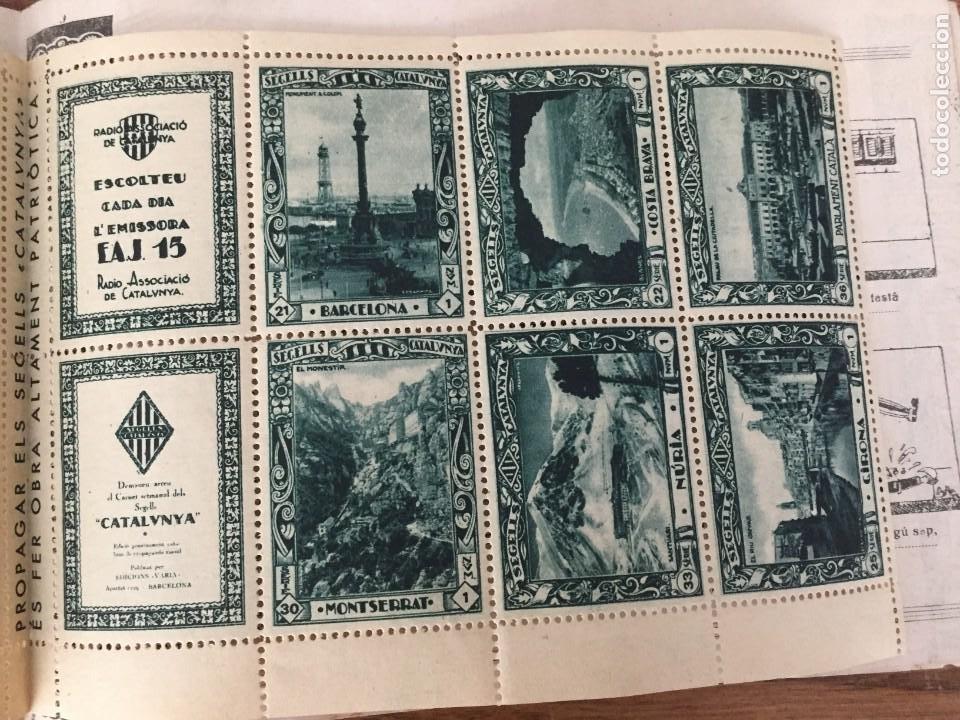 Sellos: CARNET SEGELLS CATALUNYA nº 1 (Abril, 1933) - CONSERVA LOS 16 SELLOS - Foto 6 - 204006396