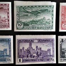 Sellos: III CONGRESO UNIÓN POSTAL PANAMERICANA MADRID EDIFIL 614 - 619 * SIN DENTAR. Lote 204702222