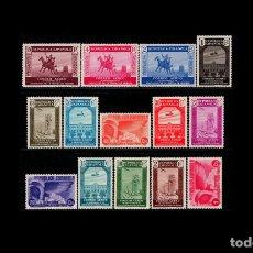 Sellos: ESPAÑA - 1936 - II REPUBLICA - EDIFIL 711/725 - SERIE COMPLETA - MNH** - NUEVOS - VALOR CAT. 71€.. Lote 204781847