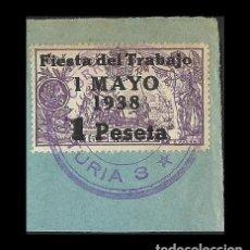 Sellos: A5-10 ESPAÑA FIESTA DEL TRABAJO EDIFIL Nº 762 SOBRE FRAGMENTO CON MARCA CORREO DE CAMPAÑA -BASE -TU. Lote 205005113