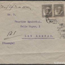 Sellos: 1934 CERTIFICADO MADRID A LAS ARENAS. Lote 205844577