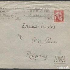 Sellos: 1936 BARCELONA A IOWA (ESTADOS UNIDOS). Lote 205845937