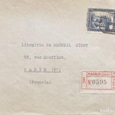 Sellos: SEGUNDA REPÚBLICA ESPAÑOLA CARTA CIRCULADA AÑO 1935. Lote 205901465