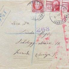Sellos: SEGUNDA REPÚBLICA ESPAÑOLA CARTA CIRCULADA AÑO 1938. Lote 205902605