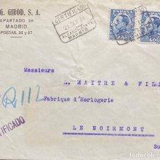 Sellos: SEGUNDA REPÚBLICA ESPAÑOLA CARTA CIRCULADA AÑO 1931. Lote 206007285