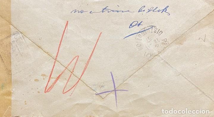 Sellos: SEGUNDA REPÚBLICA ESPAÑOLA CARTA CIRCULADA AÑO 1937 - Foto 2 - 206070018