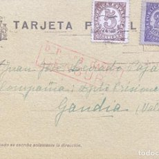 Sellos: SEGUNDA REPÚBLICA ESPAÑOLA TARJETA POSTAL AÑO 1938. Lote 206116512