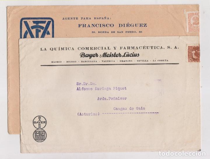 Sellos: LOTE DE 26 SOBRES PUBLICITARIOS. II REPÚBLICA Y ALFONSO XIII - Foto 6 - 206197547