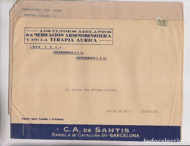 Sellos: LOTE DE 26 SOBRES PUBLICITARIOS. II REPÚBLICA Y ALFONSO XIII - Foto 7 - 206197547