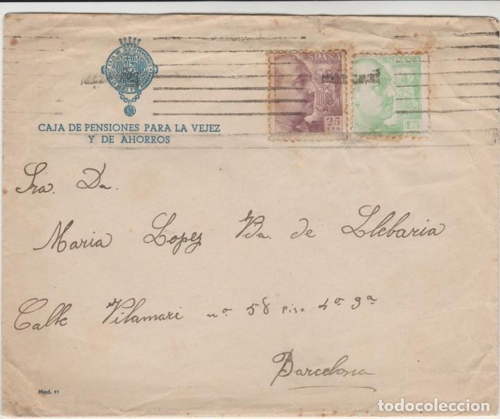 LOTE A- SOBRE Y CARTA CAJA DE PENSIONES PALMA DE MALLORCA SELLOS 1940 (Sellos - España - II República de 1.931 a 1.939 - Cartas)